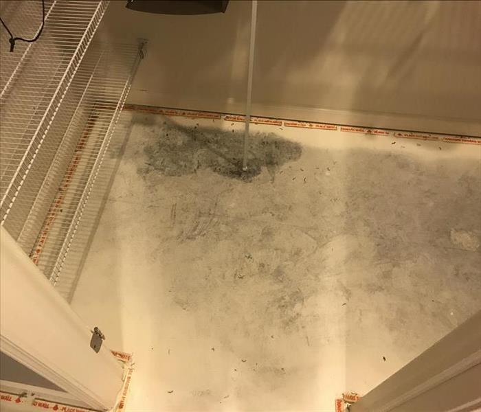 Washing machine causes some water damage Before